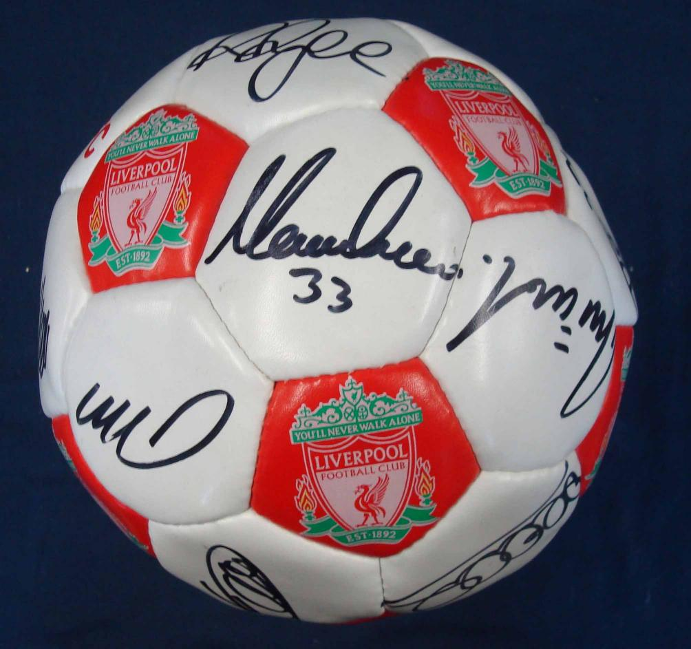 Mullock's Auctions - 2000/01 Liverpool signed football: Liverpool crested ball signed...