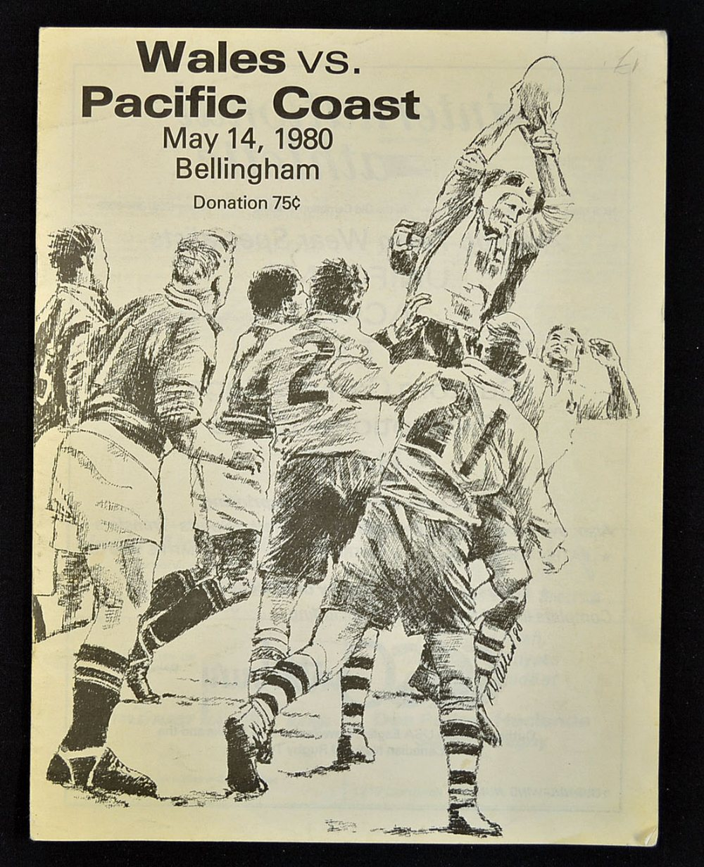 1980 Pacific Coast V Wales Rugby