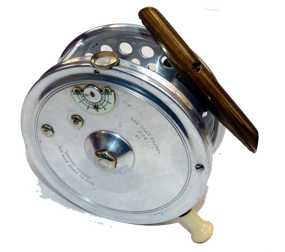 Mullock 39 s auctions reel rare hardy the silex major 4 for Antique fishing reels price guide