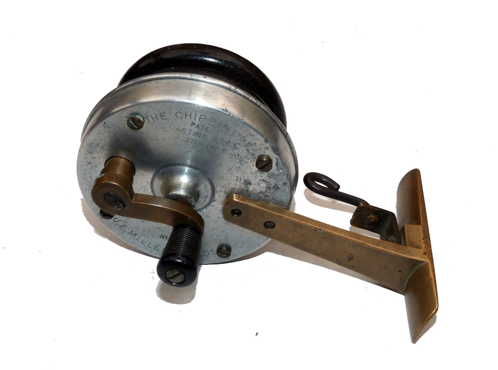 Mullock 39 s auctions reel rare je miller of leeds the for Antique fishing reels price guide