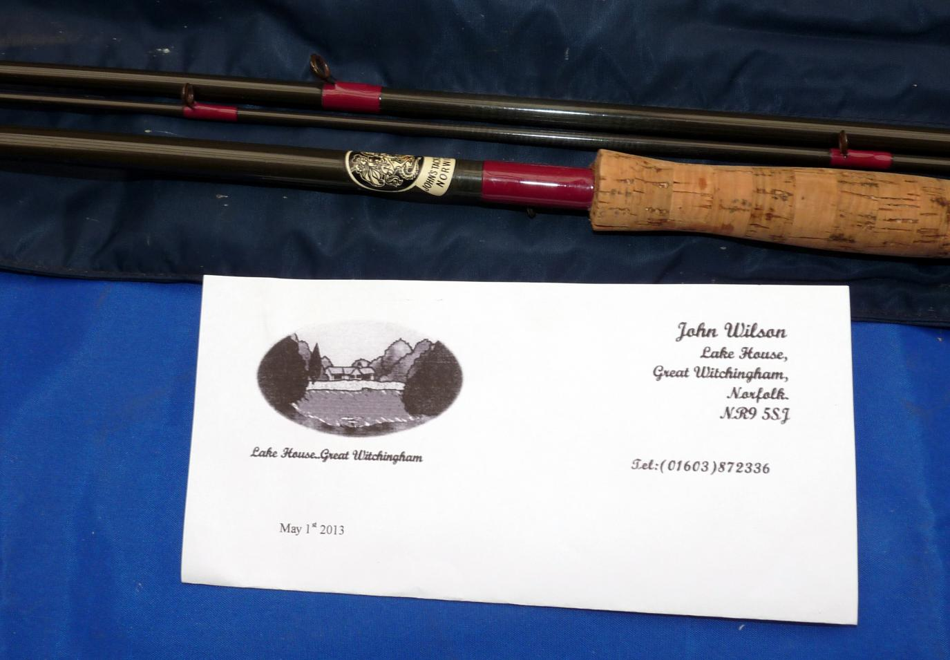 "Mullock's Auctions - ROD: Fibatube Alnwick 12'6"" 3 piece"