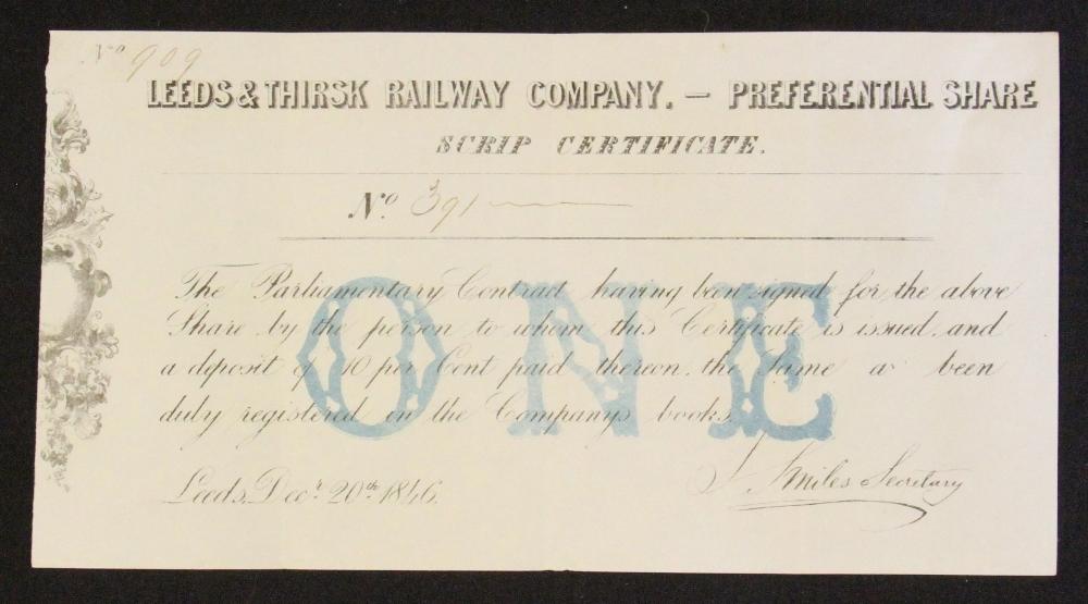 Mullocks Auctions Leeds Thirsk Railway Company Bearer