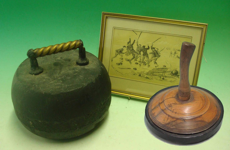 Mullock S Auctions Victorian Granite Curling Stone