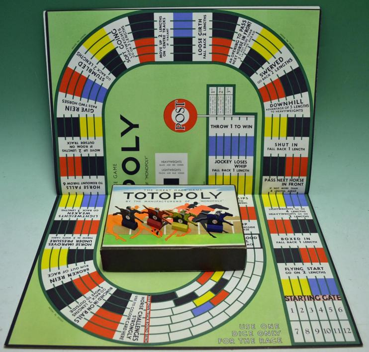 Mullock S Auctions Very Early Totopoly Horse Racing Board Game C1940 50