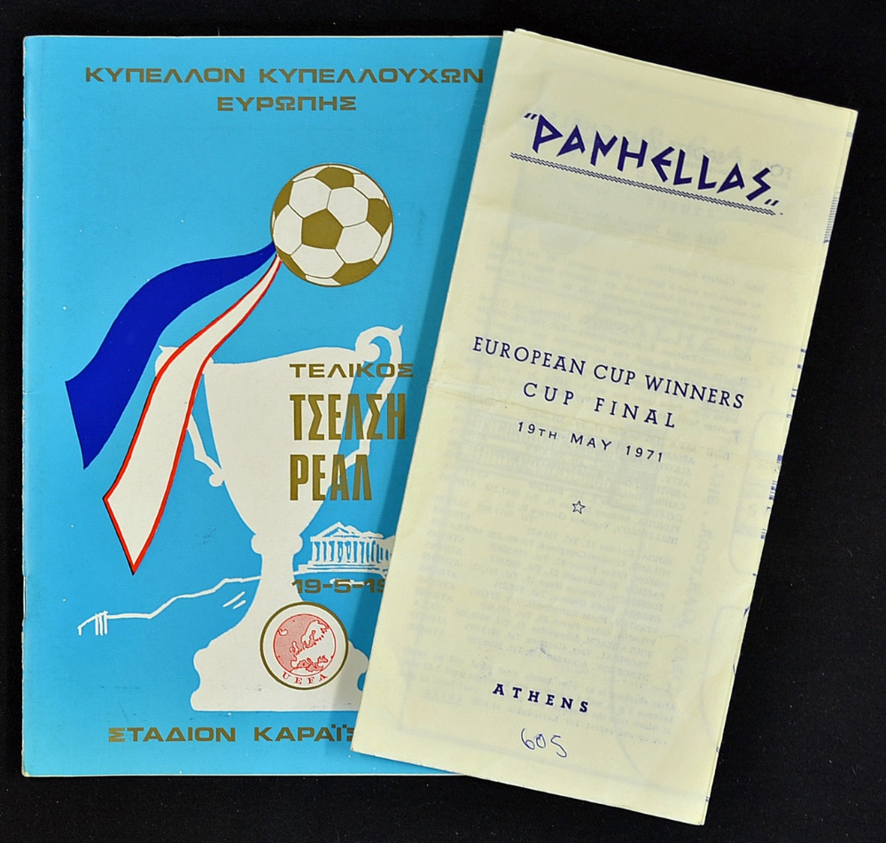 Mullock's Auctions - 1971 European Cup Winners Cup Final Chelsea v...