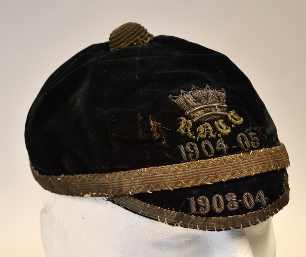 Mullock's Auctions - 1903/4 Rugby Honours Cap - Royal Naval