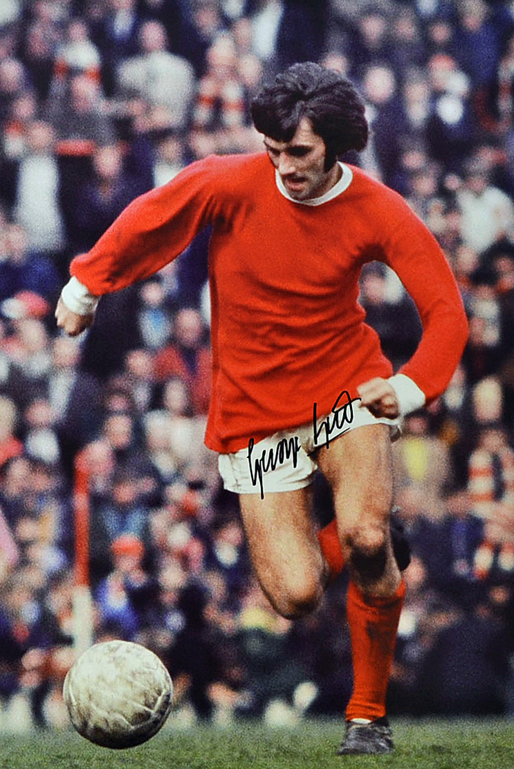 Mullock\'s Auctions - George Best Signed Football Print a colour...