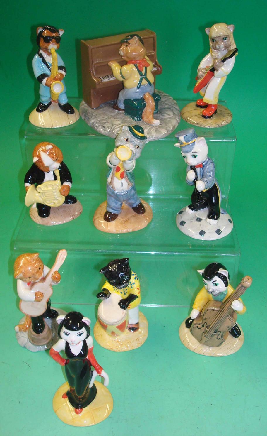 Vintage Beswick Cat Chorus figure Purrfect Pitch. CC1